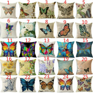 18 Cover Butterfly Case Home Sofa Dec Pillow Painting Cover Pillow Cushion