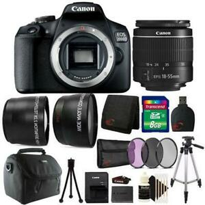 Canon EOS 2000D  Rebel T7 24.1MP DSLR Camera + 18-55mm Lens + All You Need Kit