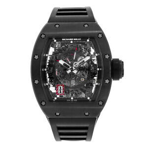 Richard Mille Black Out 50mm All Black Carbon Mens Watch RM030