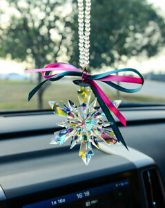 1PCS New XMAS 2016 Crystal Colorful Frozen Snowflake Ornament Largest Size 115MM $13.99