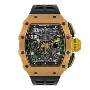 Richard Mille 49MM Automatic Flyback Chronograph Rose Gold Watch RM11-03