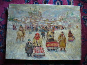 LEON GASPARD RUSSIA 1911 ORIGINAL VERY EARLY PAINTING RARE!!