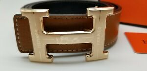 Mens Designer Belt HIGH QUALITY Business Casual  Tan Leather Unisex H02