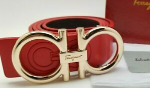 Mens Designer Belt HIGH QUALITY Fashion Business Casual  Red Leather Unisex FG1