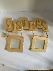 Sisters Photo Frame With Space For 2 Photos Wood Craft Great Gift 2 Available