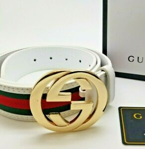 Mens Designer Belt HIGH QUALITY Business Casual Red Green White Leather GC7