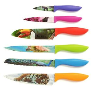 Chef's Vision 6-Piece Wildlife Series Kitchen Knife Set in Beautiful Gift Box