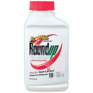 Lot of (2) Roundup Weed and Grass Killer Concentrate Plus, 16-Ounce