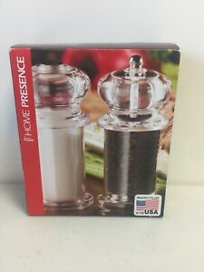 Trudeau Maison 5.5in Traditional Peppermill amp; Salt Shaker New Free Shipping