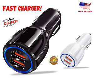 USB Fast Quick CAR Charger Adapter (16W  5912V  3.1A) For Android or iPhone