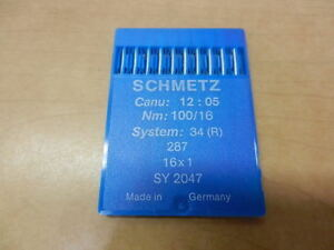 Schmetz Sewing Needles 10 Pack Canu:12:05 Nm: 100 16 34 R 287 16x1 SY 2047 $5.99