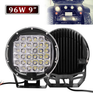 2x 9''inch LED Work Lights 185W Off Road Backup Driving for Jeep 4x4 Truck Round