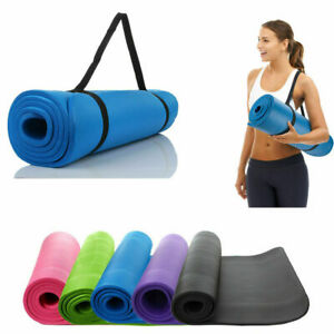 60x25cm Yoga Mat 15mm Thick Gym Exercise Fitness Pilates NonSlip Mat Auxiliary