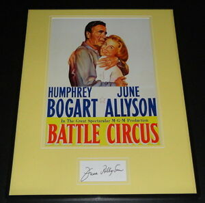 June Allyson Signed Framed 16x20 Photo Poster Display Battle Circus