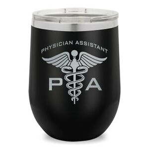 Wine Glass Tumbler, PA Physician Assistant