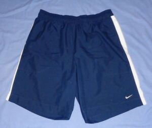 NIKE Navy Blue Run Sport Athletic Fitness Water Shorts with Mesh Liner Men's XL