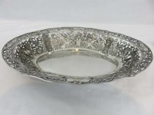 Wonderful Huge GERMAN 800 SILVER PIERCED BOWL Griffins Grapes Instruments Roses