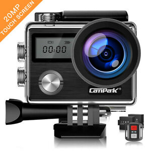 Campark Dual LCD Action Sport Camera WiFi Touch Screen UHD 4K 20MP Waterproof US