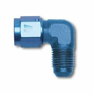 Two (2) Russell Coupler 90 degree -10 AN Female--10 AN Male Blue