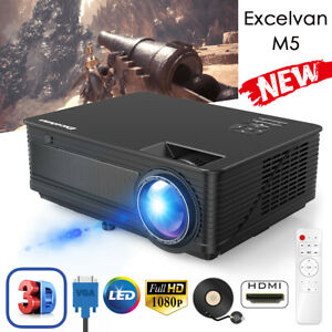 7000lms 3D FHD 1080P Mini Video Projector LED Multimedia Home Theater HDMI USB