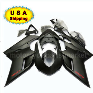 ABS Matte Black Complete Fairing Injection Set Kit For 2007-2012 Ducati 1098 R S