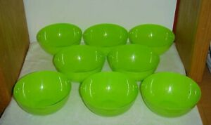 8 pc Cereal, Salad, Fruit, Snack BOWLS 24oz New GREEN