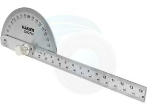 Stainless Steel Bevel Protraction 180 Degree Angle Protractor Ruler $8.17