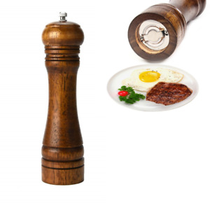 Wooden Salt Pepper Mill Adjustable Ceramic Grinder Manual Durable Spices Shaker
