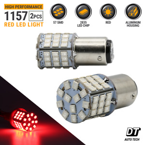 Syneticusa 2x 1157 Red High Power LED Brake Stop Tail Light/Parking Bulbs