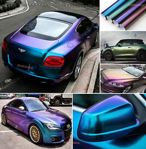 Magic Series Chameleon Car Pearl Metal Glossy Satin Chrome Vinyl Wrap Sticker US