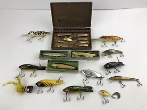 Vintage Fishing Lure Lot Luxon Tie Bombers South Bend Super Duper Spoon Rapala