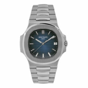 Patek Philippe Nautilus Stainless Steel Mens Blue Dial Watch 57111A-010