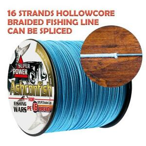16S Braided Hollow Core 2000M Super Strong Sea Fishing Line PE Blue