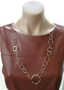 IPPOLITA Rose Gold Plated Glamazon Wavy Circle Link Necklace