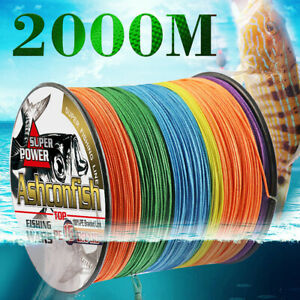 16 Strands Braided Hollow Core 2000M Super Strong Sea Fishing Line PE Multicolor