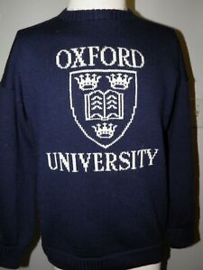Oxford University Vintage Knit Crew Neck Sweater by George Hostler