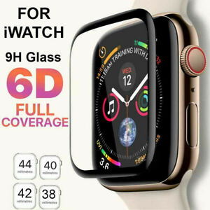 6D Tempered Glass Screen Protector For Apple Watch iWatch 4 3 2 1 38404244 mm