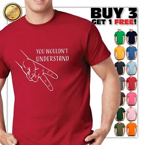 funny motorcycle t shirt You wouldn't Understand 2 finger Rider sign