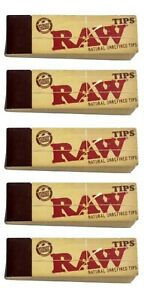 5X RAW Rolling Tips Unrefined Filter Raw Tips 50 pack FAST USA SHIPPING $4.92