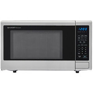 Sharp 1.1 Cu. Ft. 1000W Countertop Microwave w/ 10 Power Levels, Stainless Steel