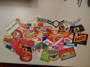 44 Vintage Wine Soda Beer Tobacco Etc ? Miscellaneous Labels Junk Drawer Lot B14