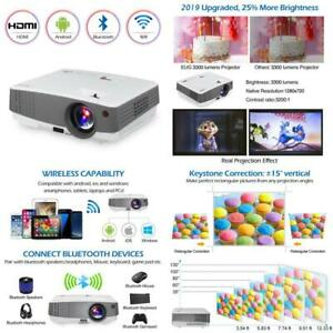 Hd Portable Lcd Led Home Video Projector Bluetooth Wifi Airplay Support 1080P Mi
