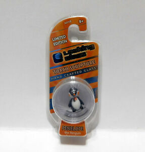 Rare Looking mini Glass Torch Sculpture PENELOPE The PENGUIN Limited Edition
