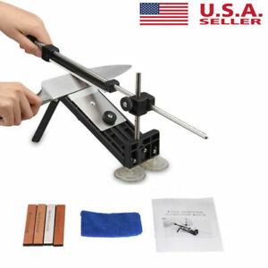 Fix-angle Knife Sharpener Whetstone Pro Kitchen Sharpening Kits w/4 Stones