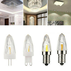 Dimmable Mini G4 G9 E12 E14 4W Glass Crystal LED Light Replace Halogen Lamp RD