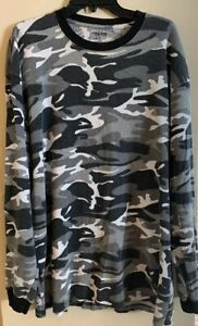 Mens Finish Line FiNL 365 Long Sleeve  Camo Thermal Size 3xl