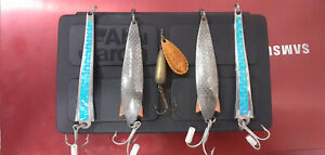 Old Vintage Abu Garcia Fishing Lures; 1 Droppen 2 Toby 2 Toby Slim + Black Box