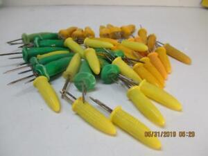 Vintage Lot Of 40 Corn On The Cob Plastic Holders