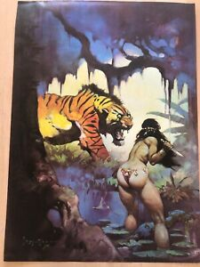FRANK FRAZETTA Escape On Venus* #53  FANTASY Litho PRINT 16 X 22 Vintage Prints