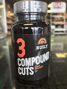 BUILT 3 Compound Cuts PH Stack Dry Lean & Vascular 60 Caps *FREE SHIPPING*
